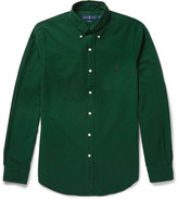 Polo Ralph Lauren Slim-fit Button-down Collar Garment-dyed Cotton Oxford Shirt - Green