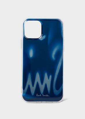 Paul Smith Navy 'Spray' Print iPhone 11 Pro Case