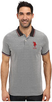U.S. Polo Assn. Color Tipped Collar and Sleeve Cuff Pique Polo Shirt