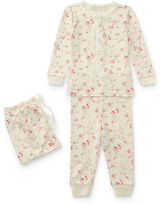 Ralph Lauren Girl Floral Toile Cotton Pajama Set