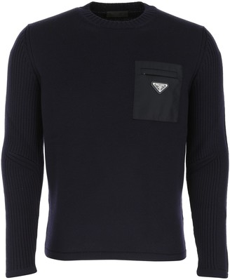Prada Logo Ribbed Sweater