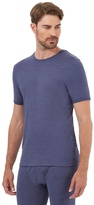 Maine New England Blue Short Sleeved Thermal Shirt