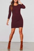 BB Dakota Classic Fitted Sweater-Dress