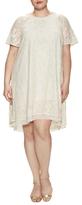 Rachel Roy Lace Raglan Asymmetrical Dress