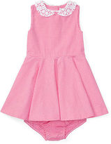Ralph Lauren Girl Gingham Cotton Dress & Bloomer
