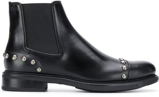 Santoni stud embellished Chelsea boots
