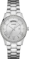 GUESS Silver-Tone Classic Style Dress Watch