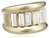 Dyrberg/Kern 336212 Women's Ring, Gold-Plated Metal with Swarovski Crystals