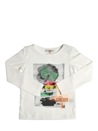 Junior Gaultier Stretch Jersey T-Shirt