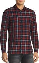 The Kooples Faded Check Slim Fit Button-Down Shirt