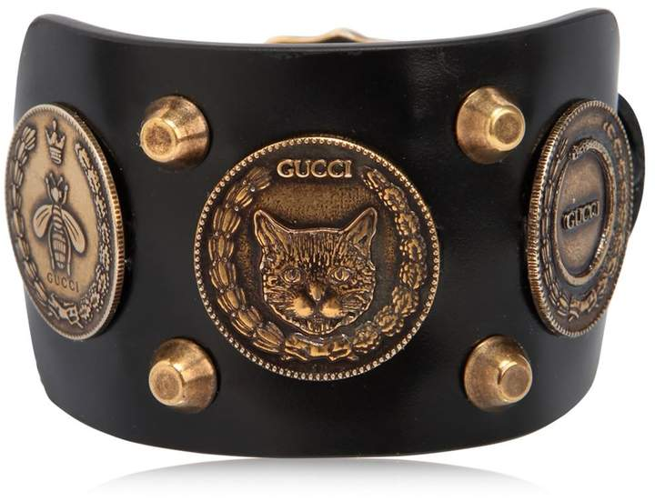 Gucci Coins Leather Bracelet