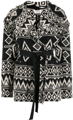 Etoile Isabel Marant Abstract Pattern Cardi-Coat