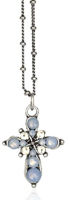 Anne Koplik Mini Swarovski Cross Necklace