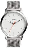 Fossil Men's Minimalist Mesh Bracelet Watch, 44mm