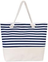 Riah Fashion Striped Tote Bag