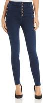 J Brand Natasha Button Sky High Skinny Jeans in Throne