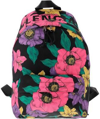 Balenciaga Floral Printed Nylon Backpack