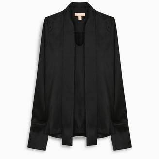 MATÉRIEL Black Lavalliere collar shirt