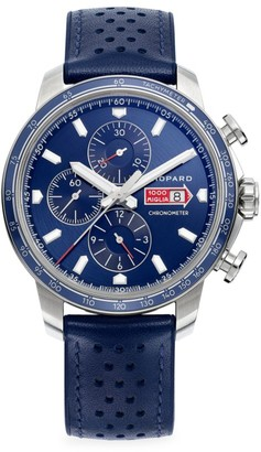 Chopard Classic Racing Mille Miglia GTS Azzurro Chrono Stainless Steel & Leather Strap Watch