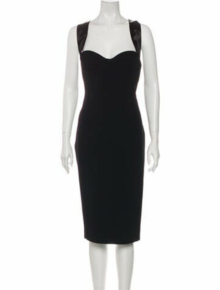 Victoria Beckham Square Neckline Mini Dress w/ Tags Black