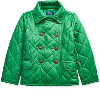 Polo Ralph Lauren Toddler Girl Quilted Double-Breasted Jacket