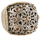 Konstantino Two-Tone Pink Sapphire Engraved Ring