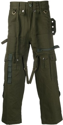 Youths In Balaclava Cropped Straight-Leg Cargo Trousers