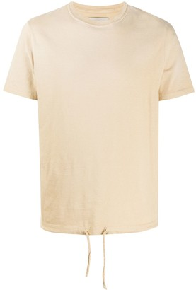Paura drawstring-hem cotton T-shirt