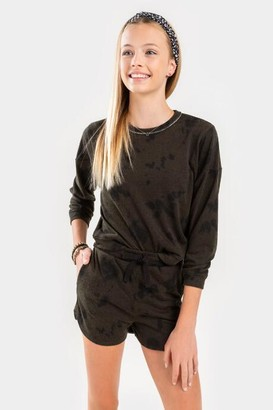 francesca's franki Tie-Dye Shorts for Girls - Olive
