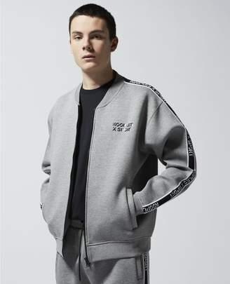 The Kooples Grey zipped sweatshirt, vars col&logo stripe