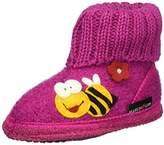 Haflinger Girls' Hüttenschuh Biene Hi-Top Slippers Pink Size: