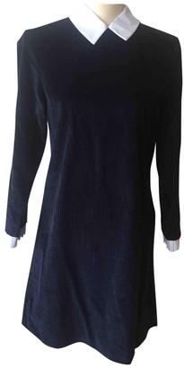 Sandro Blue Velvet Dresses