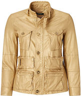 Ralph Lauren Woman Metallic Leather Cargo Jacket