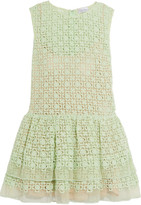 RED Valentino Broderie anglaise voile mini dress