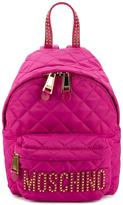Moschino quilted mini backpack - women - Nylon - One Size