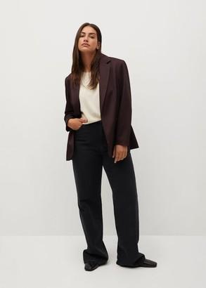 MANGO Micro houndstooth suit blazer