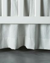 Thumbnail for your product : Bovi Fine Linens Baby Seersucker Crib Dust Skirt, White/Taupe