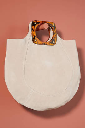 Anthropologie Dora Suede Tote Bag