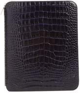 Smythson Mara Croc Embossed Zip Folder & A5 Notebook