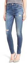 7 For All Mankind High Waist Skinny Jeans (Icelandic Blue)