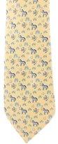 Hermes Silk Zebra & Fish Print Tie