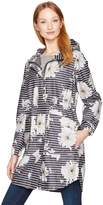 Joules Women's Raina Floral Print Rain Jacket with Hood