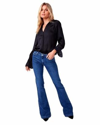 Paige Women's Genevieve Transcend High Rise Flare Jean