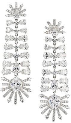 Adriana Orsini Silvertone & Cubic Zirconia Chandelier Earrings