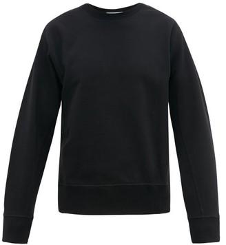 Helmut Lang Masc Logo Embroidered Cotton Sweatshirt - Mens - Black