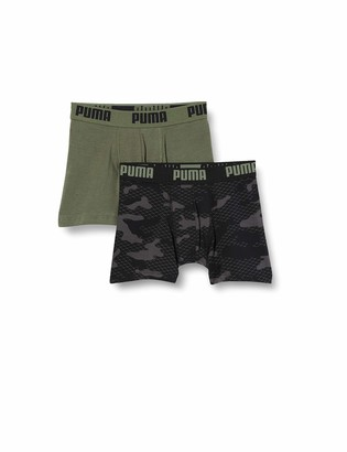 Puma Boy's Print Camo Kids' Boxers (2 Pack) Shorts