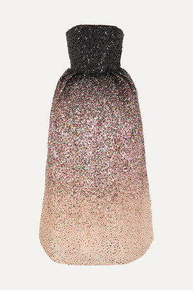 Ong Oaj Pairam Ong-Oaj Pairam - Ofelia Sequined Silk-organza Gown - Pink