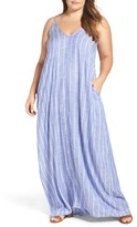 Plus Size Women's Elan Cover-Up Maxi Dress