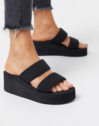 Truffle Collection glam heeled mules in black