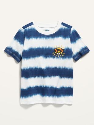 Old Navy Short-Sleeve Tie-Dye-Stripe Tee for Toddler Boys